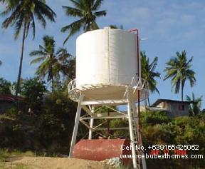 house and lot in cebu - azienda water tank